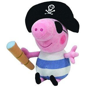 Ty Beanie Baby Peppa Pig - Pirate George Plush Toy