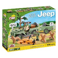 Cobi Small Army ミリタリーブロック WWII 第二次世界大戦 アメリカ軍 ウィリス ジープ w/ 1/4トン トレーラー Willys Jeep with 1/4ton...
