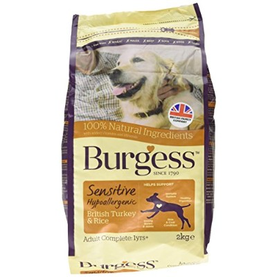Burgess Sensitive Adult Dog Turkey and Rice 2 Kg