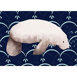 Oopsy daisy Martha The Manatee Stretched Canvas Wall Art by Meghann O'Hara, 14 by 10-Inch by Oopsy Daisy