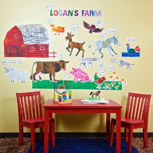 Oopsy daisy Eric Carle, 's Farm Peel and Place Childrens Wall Decals by Eric Carle, 54 by 60-Inch...