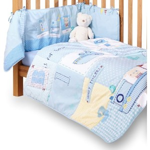 Clair de Lune Ahoy Cot/ Cot Bed Quilt and Bumper Set (2 Pieces)