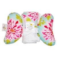 Baby Elephant Ears Head Support Pillow & Matching Blanket Gift Set (Dahlia) by Baby Elephant Ears