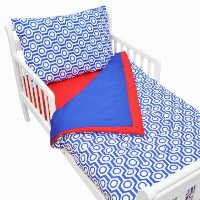 TL Care 100% Cotton Percale Toddler Bed Set, Royal Hexagon by TL Care