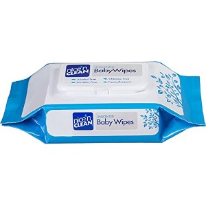 Nice 'N Clean Baby Wipes Soft-Pack with Aloe - Unscented, Hypoallergenic, 2 Packs of 80 Wipes ...