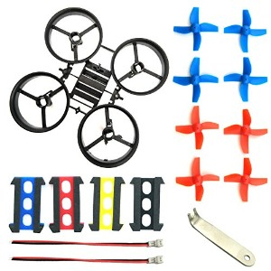 EUDAX 8Pcs プロペラプロップwith Frame for JJRC h36 Eachine e010とブレードInductrix Tiny Whoop Micro Droneパーツ...