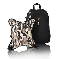 Obersee Rio Diaper Bag Backpack with Detachable Cooler, Black/Camo by Obersee
