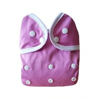 Kawaii Baby One Size Happy Leak-free Snap Cloth Diaper Cover for Prefolds Pink by Kawaii Baby