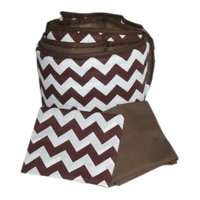 Baby Doll Bedding Chevron Grandma Pack, Brown by BabyDoll Bedding