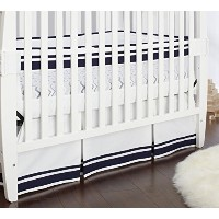 Just Born Fresh Air Crib Liner, Navy/Blue/White by Just Born