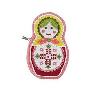 Living Goods Zippee Coin Pouch, Matryoshka Doll by ORE Originals