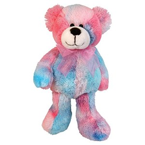Stephan Baby Soft and Huggable Plush Tie-Dye Teddy Bear, Pinks and Blues by Stephan Baby