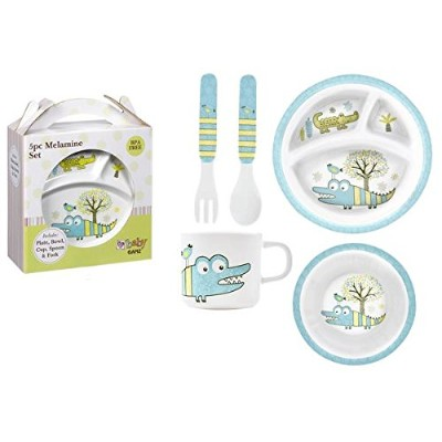 Alligator Melamine 5pc Dinner Set by Ganz by Ganz
