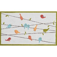 The Rug Market Birds On A Wire Children's Area Rug, 2.8' X 4.8 by The Rug Market