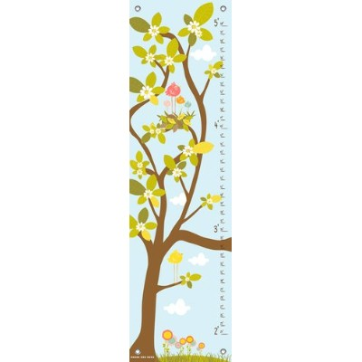 Oopsy Daisy in The Branches Finny and Zook Growth Charts, Pastel Blue, 12 x 42 by Oopsy Daisy