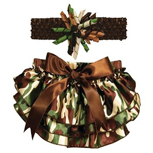Stephan Baby Ruffled Diaper Cover and Curly Headband Gift Set, Camo Print, 6-12 Months by Stephan...