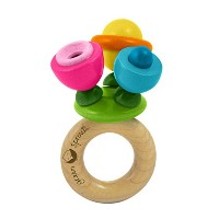 green sprouts Flower Rattle Made From Wood by green sprouts