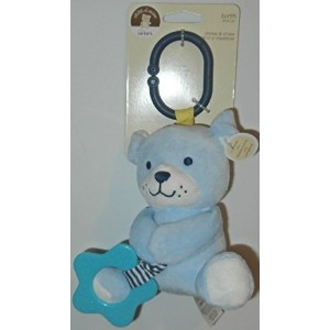 Child of Mine Chime and Chew Soft Plush - Blue Dog with Teething Ring and Chime by Child of Mine