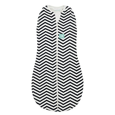 ergoPouch ER0-3NAVY0.2 ergoCocoon 0.2 TOG Swaddle and Sleep Bag, Navy Chevron, 0-3 Months by Ergo...