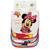 Minnie Mouse Deluxe Terrycloth & Vinyl Bib by Disney