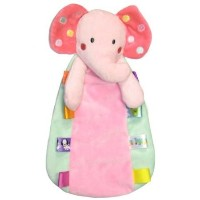 Taggies Rattle Head Elephant Plush Security Blanket - Pink by Bobfriend