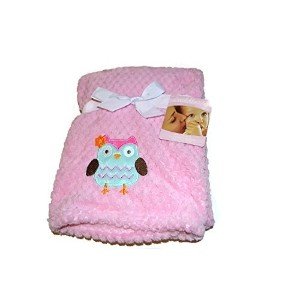 Cuddle Me Baby Blanket by NoJ0-Pink with Owl by NoJo