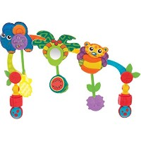 Playgro Bubble Travel Play Arch with Clamps to Install in the Car, Stroller or Bouncer/Multi...