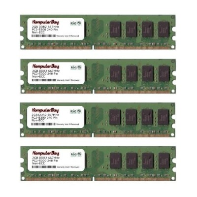 Komputerbay 8 GB ( 2 x 4 GB ) ddr2 DIMM ( 240ピン) am2 667 MHz pc2 5400 / pc2 5300 for Foxconn a7gm-s...