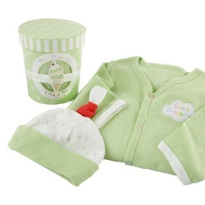 Baby Aspen Sweet Dreamzzz Pint of PJ's Sleep Time Gift Set, 0-6 Months, Lime by Baby Aspen [並行輸入品]