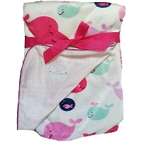 Baby Blanket Whales Reversible by Sweet Lullaby [並行輸入品]