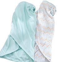 BreathableBaby Swaddle - Chevron/Aqua Mist by BreathableBaby