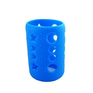 Savior Glass Baby Feeding Milk Bottle Sleeve Silicone Bottle Cover Protect Insulating (S 120ml,...