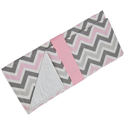 Caught Ya Lookin' Baby Changing Pad, Gray/Pink/White by Caught Ya Lookin'