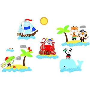 Suncrest FunToSee Pirates 20 Wall Stickers