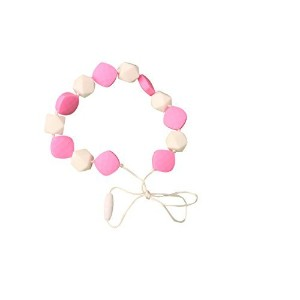 MyBoo Autism/Sensory/Teething Chewable Beaded Necklace - Pink/White by MyBoo