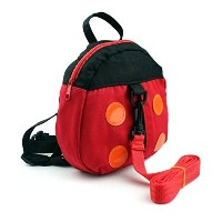 Aisa Adorable Ladybug Baby Toddler Backpack Mini Strap Bag with Safety Harness by Aisa