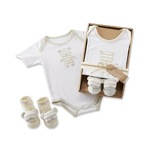 Baby Aspen Beary Sweet Layette Set for Baby, White/Beige, 0-6 Months by Baby Aspen