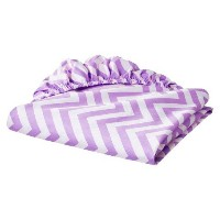 Fitted Crib Sheet Purple Lavender Zig-zag Chevron Print 100% Cotton Baby Nursery by Circo by Circo