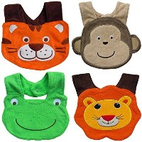 Baby Bibs - Set of 4 Baby Dribble Bibs for Boys (Bibs With Snaps) Chic, Stylish & Fashionable...