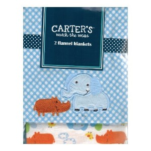 Carter's Watch the Wear - 2 Flannel Blanket Set - Elephant/Rino by Carter's Watch the Wear
