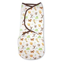 SwaddleMe Original Swaddle 1-PK, Graphic Jungle (SM) by SwaddleMe