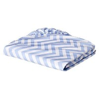 Circo Woven Chevron Fitted Baby Crib Sheet (Blue) by Circo