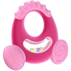 Nuby Natural Touch Softees Teether - Large - Girl [並行輸入品]