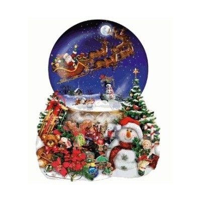 Santa's Snowy Ride a 1000-Piece Jigsaw Puzzle by Sunsout Inc. サンタ パズル(1000ピース) [並行輸入品]