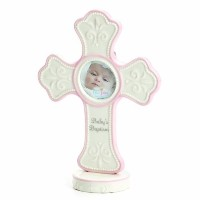 Nat and Jules Baby's Baptism Cross Frame, Pink by Nat and Jules [並行輸入品]