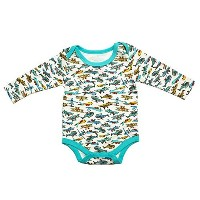 Cigogne BeBe Air Plane long sleeve Bodysuit Blue 6~9 Month by Cigogne BeBe