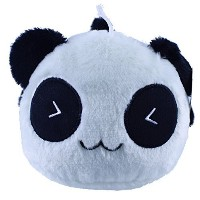 Cute Lovely Panda Dolls Smiling Giant Panda Plush Toy Lumbar Pillow人形forクリスマスギフト9.8 ""