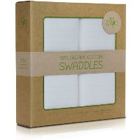 WeeSprout Organic Cotton Muslin 47-by-47-Inch Swaddle Blankets by WeeSprout