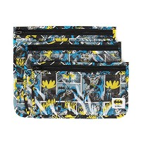 Bumkins Batman Clear Travel Bags, 3 pack, Batman by Bumkins