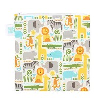 Bumkins Petit Collage Snack Bag Single, Safari Mix, Large by Bumkins